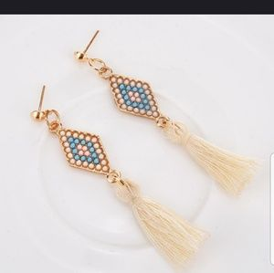 Jewelry - Cute Rhombus Earings with Tassle